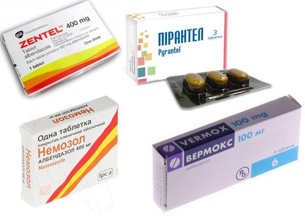 препараты от глистов у человека без рецептов