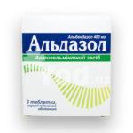 Альдазол: инструкция по применению, цена, лечение и отзиви о препарате от паразитов